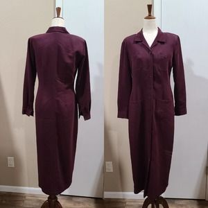 8 VTG 90s Robbie Bee Burgundy Dress